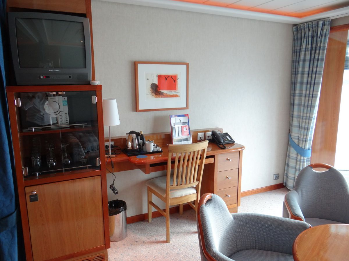 Midnatsol Grand Suite Entertainment Center and Desk