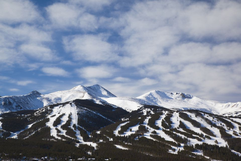 Scenics view of Ten Mile Mountain Range, Breckenridge, Colorado, USA
