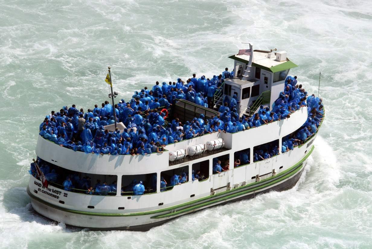 Hornblower Boat Tours get you up close to Niagara Falls