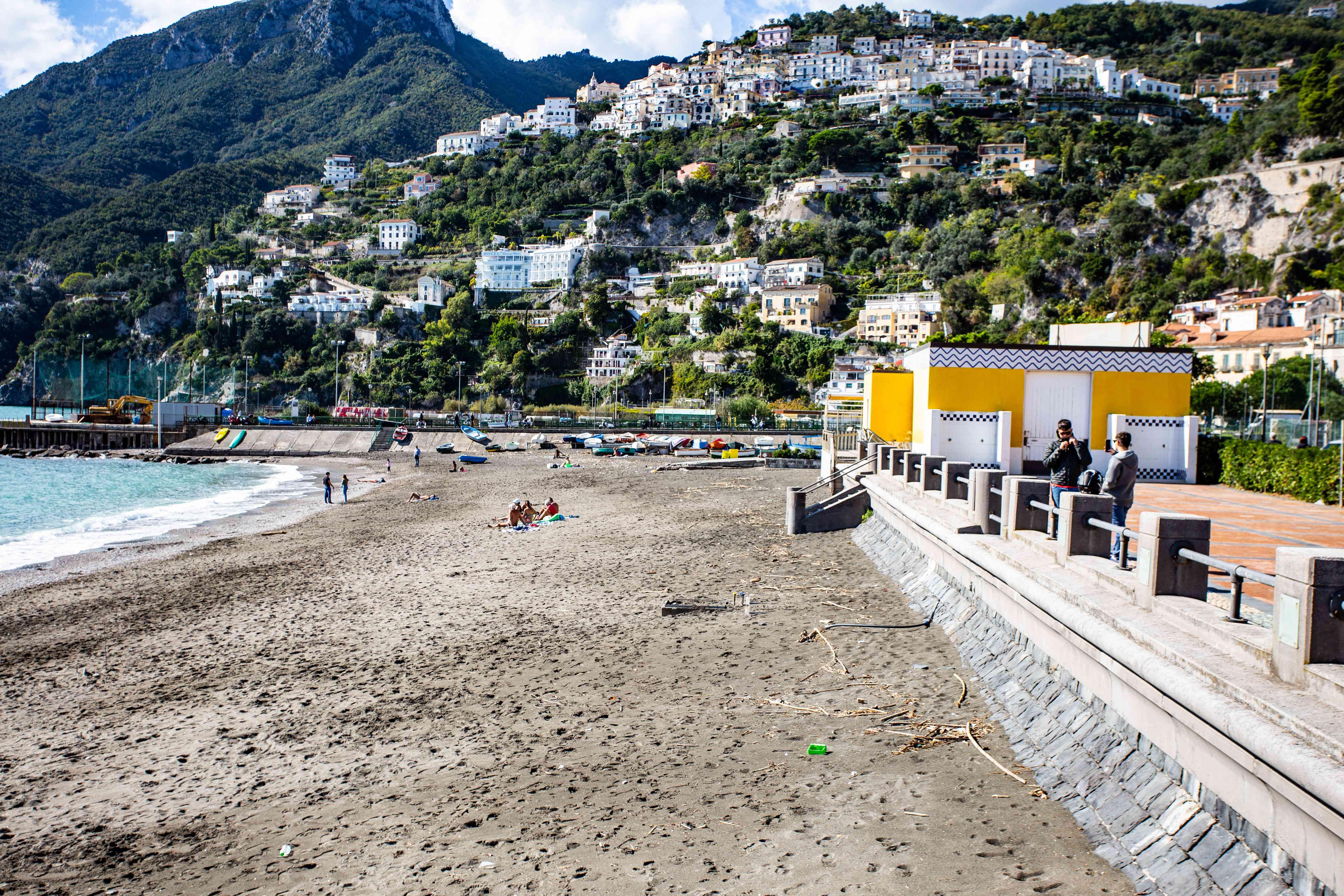 Beach in Vietri Sul Mare, Amalfi, Italy