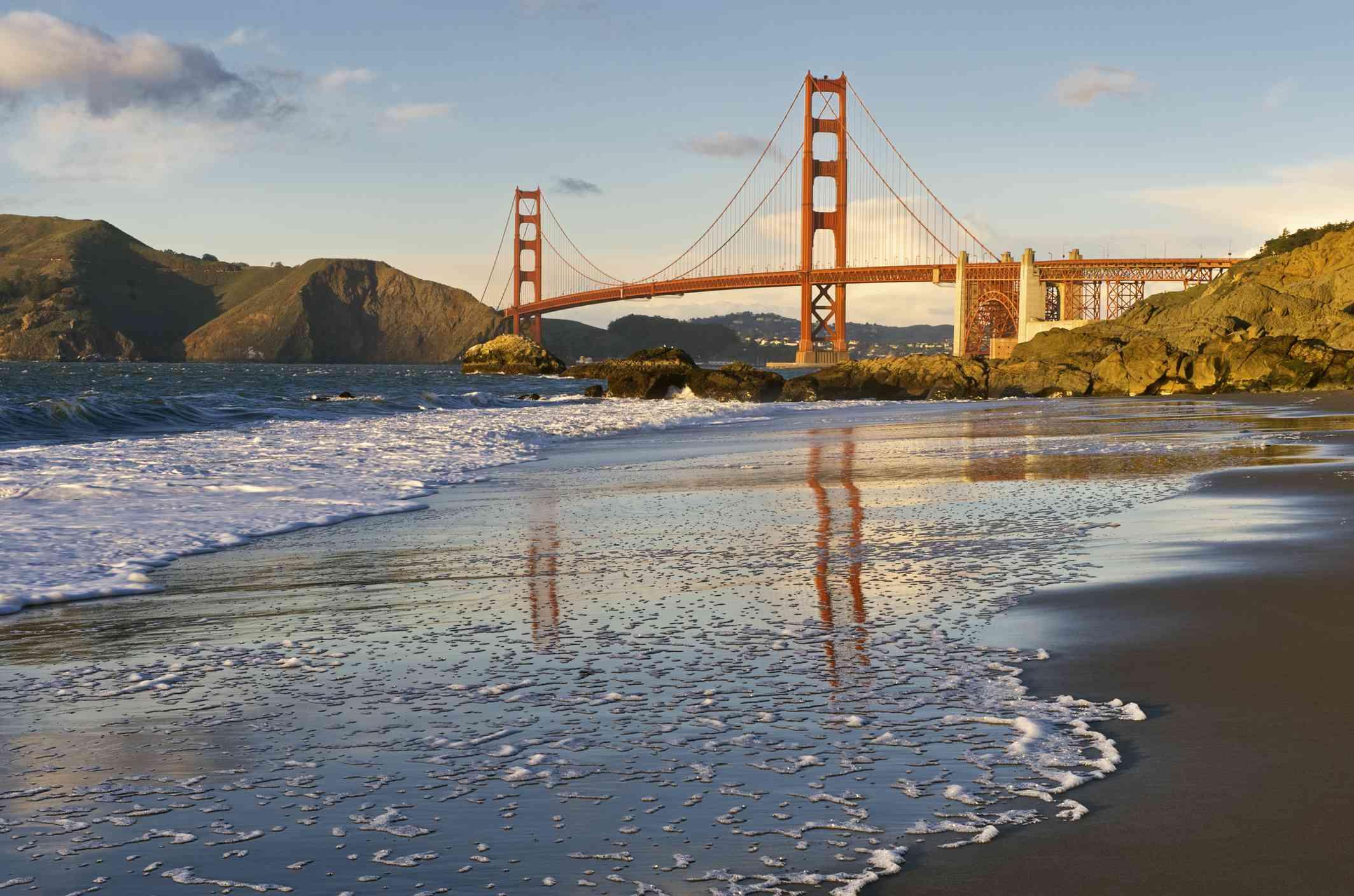 View of the Golden Gate Bridge from Baker Beach