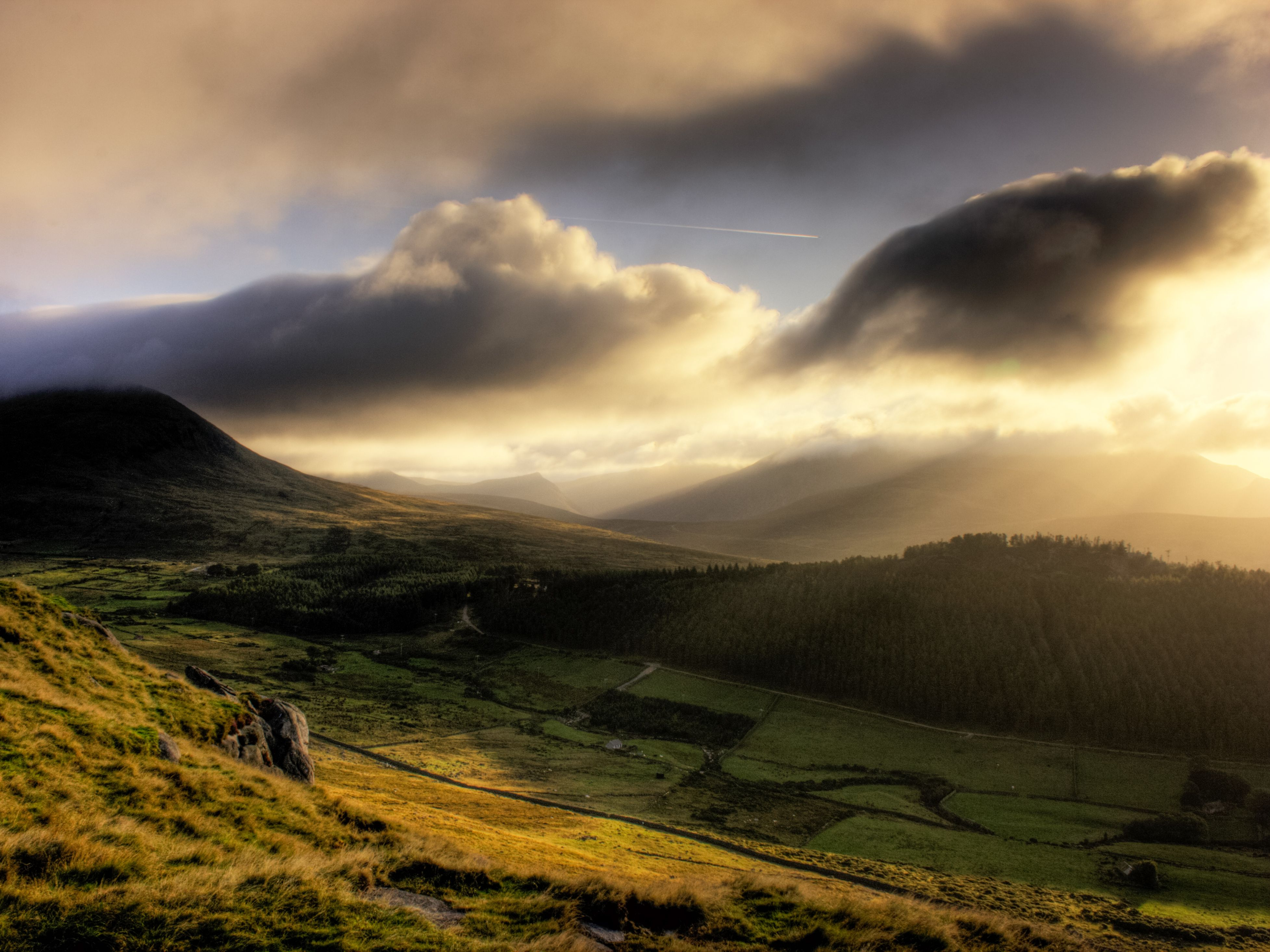 Sunrise over the Mourne Mountains in Northern Ireland