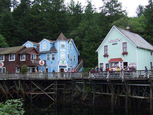 Dolly's House Museum on Creek Street in Ketchikan, Alaska