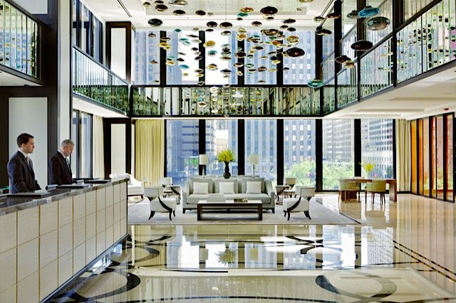 The Langham Chicago hotel is architectural and artistic