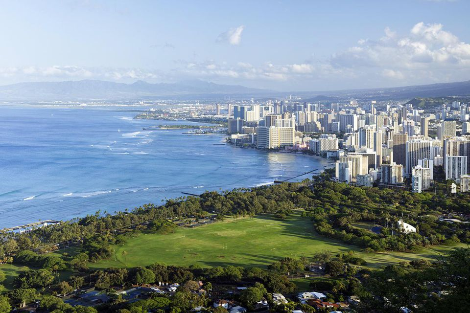 Waikiki panorama, Oahu, Hawaii