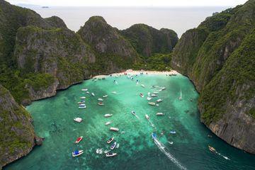 Maya Beach in Krabi, Thailand