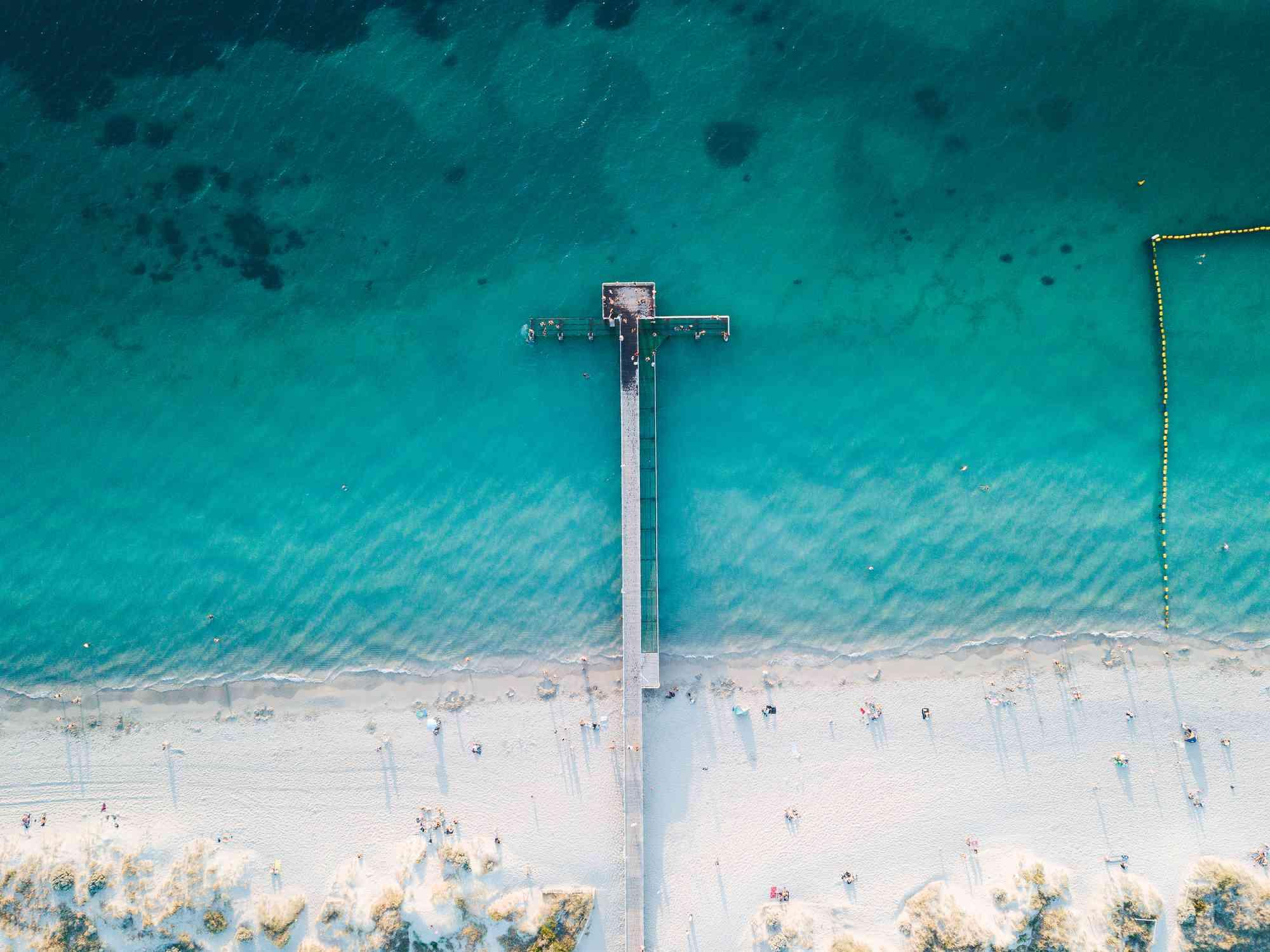 Una playa de arena en la isla Rottnest