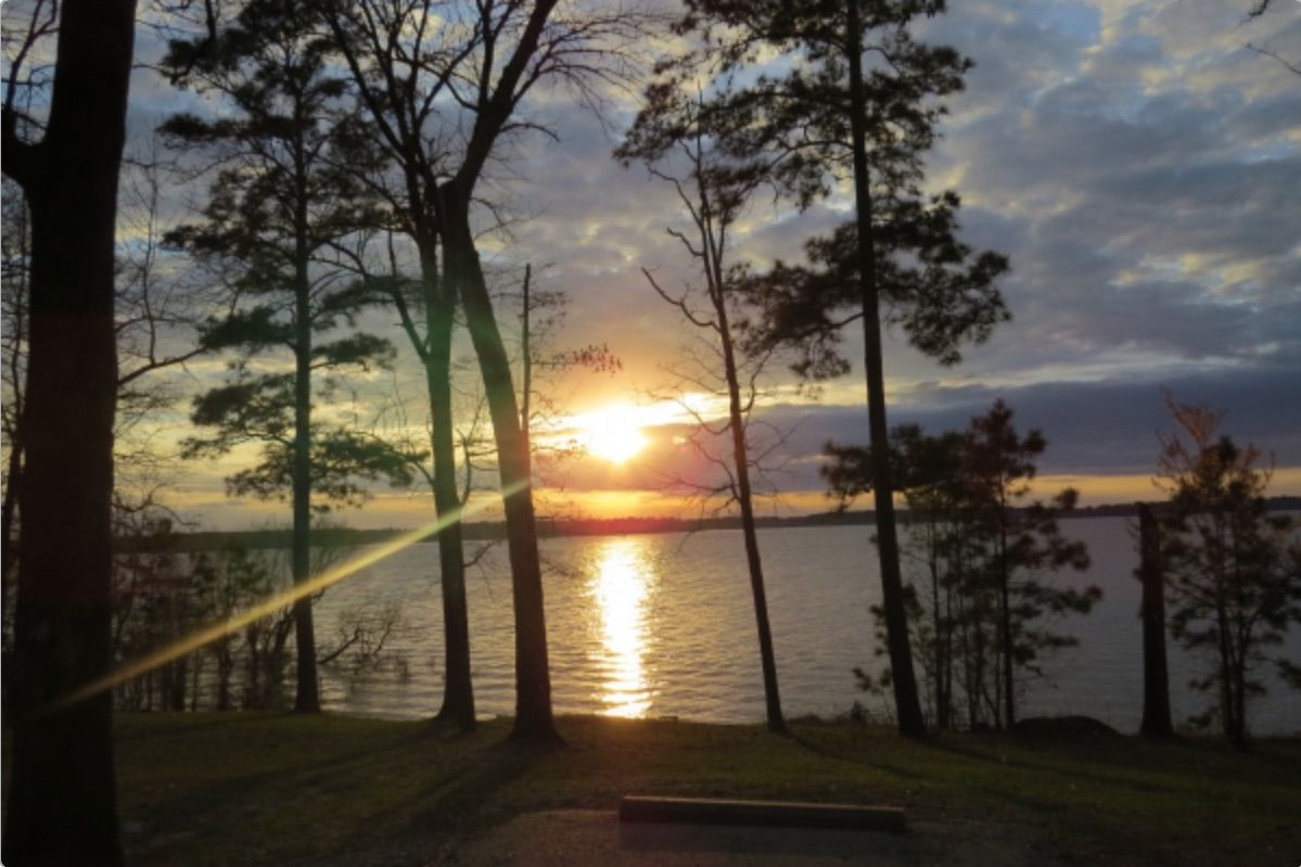 Lake Sam Rayburn at sunset