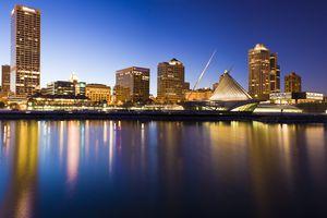 Milwaukee, Wisconsin Skyline illuminated at night