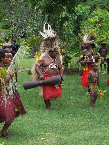 Dancers at a Singsing on Krangket Island near Madang, Papua New Guinea