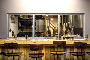 the bar at Wynwood Brewing