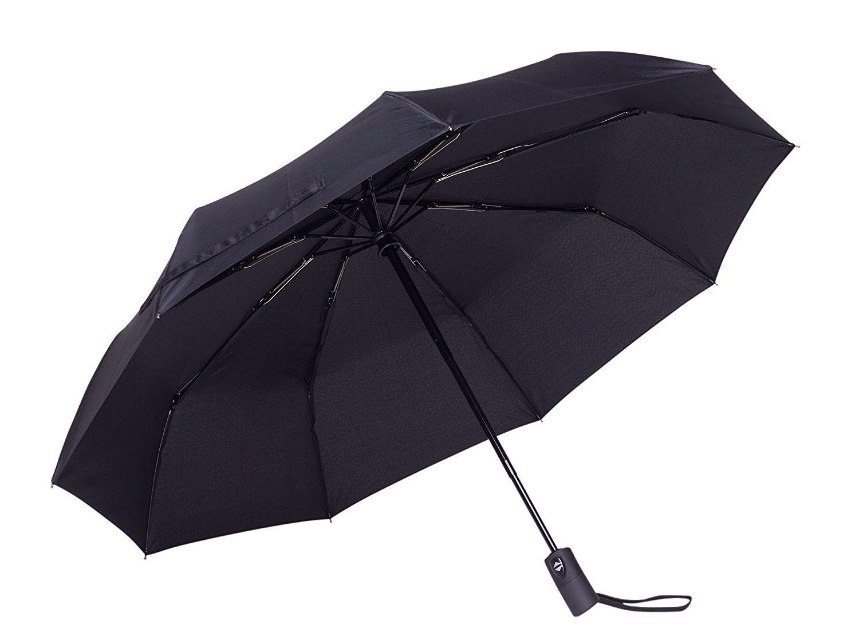 Automatic Folding Umbrella Rain Women Men Mini Light and Durable Strong Colourful Umbrellas Kids Travel Parasol,Black