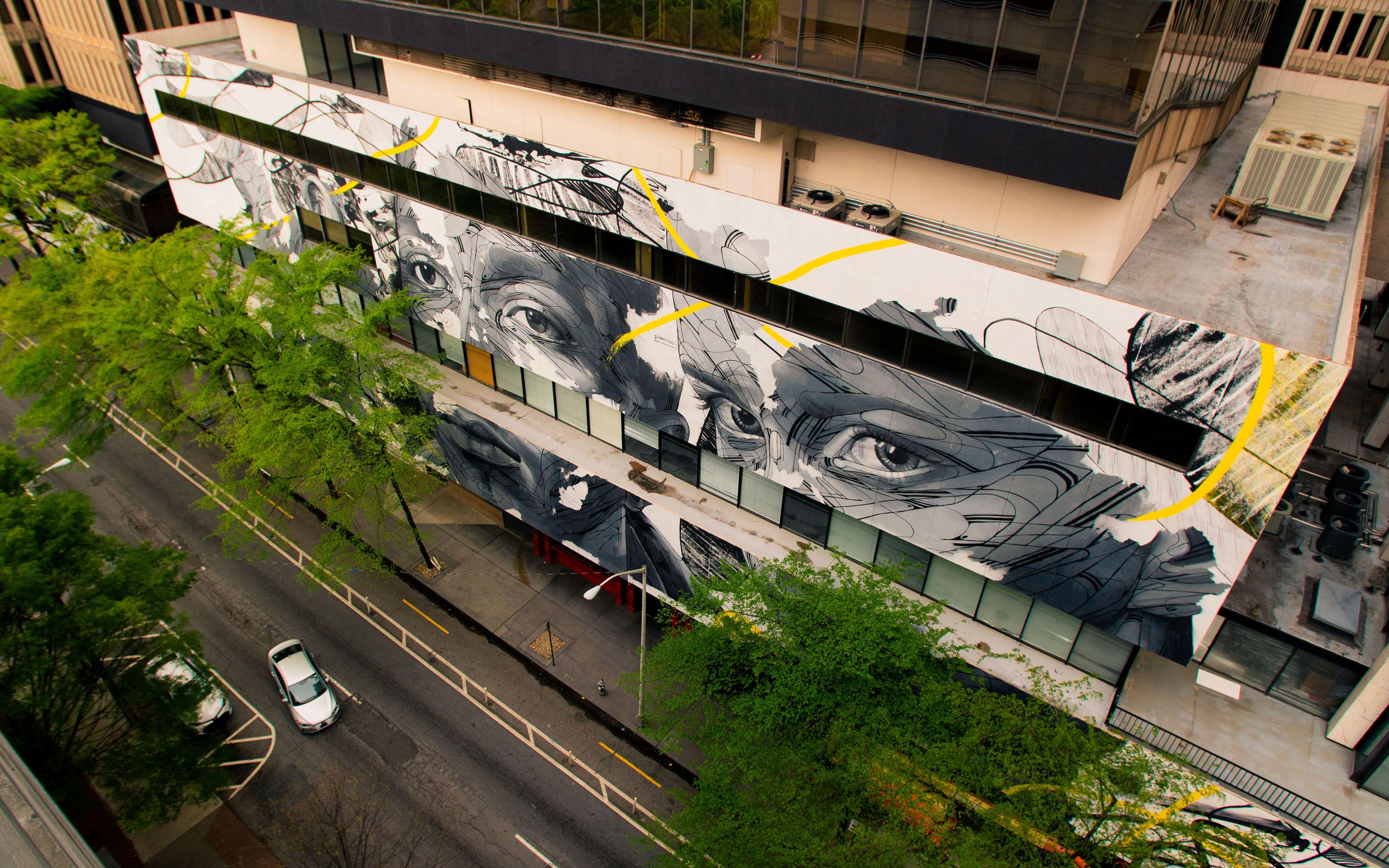 Un gran mural en Atlanta