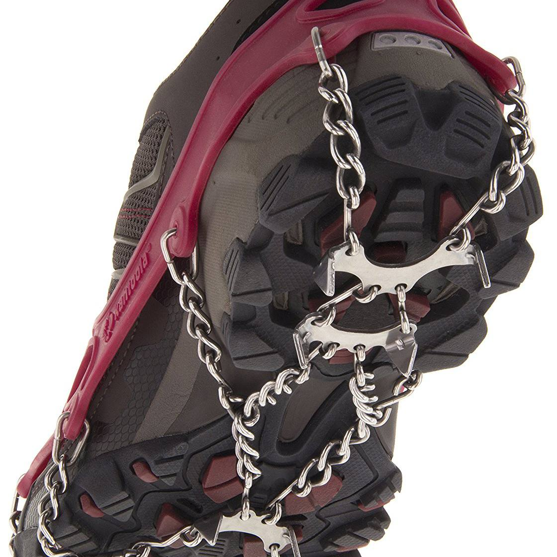 Grippers Spikes Anti-Slip Over Shoe Ice Climbing Shoes Gripper Spike Anti Skid Non-Slip Gripper Spikes Suitable for All Type of Shoes Easy to Pull On or Take Off Good Elasticity