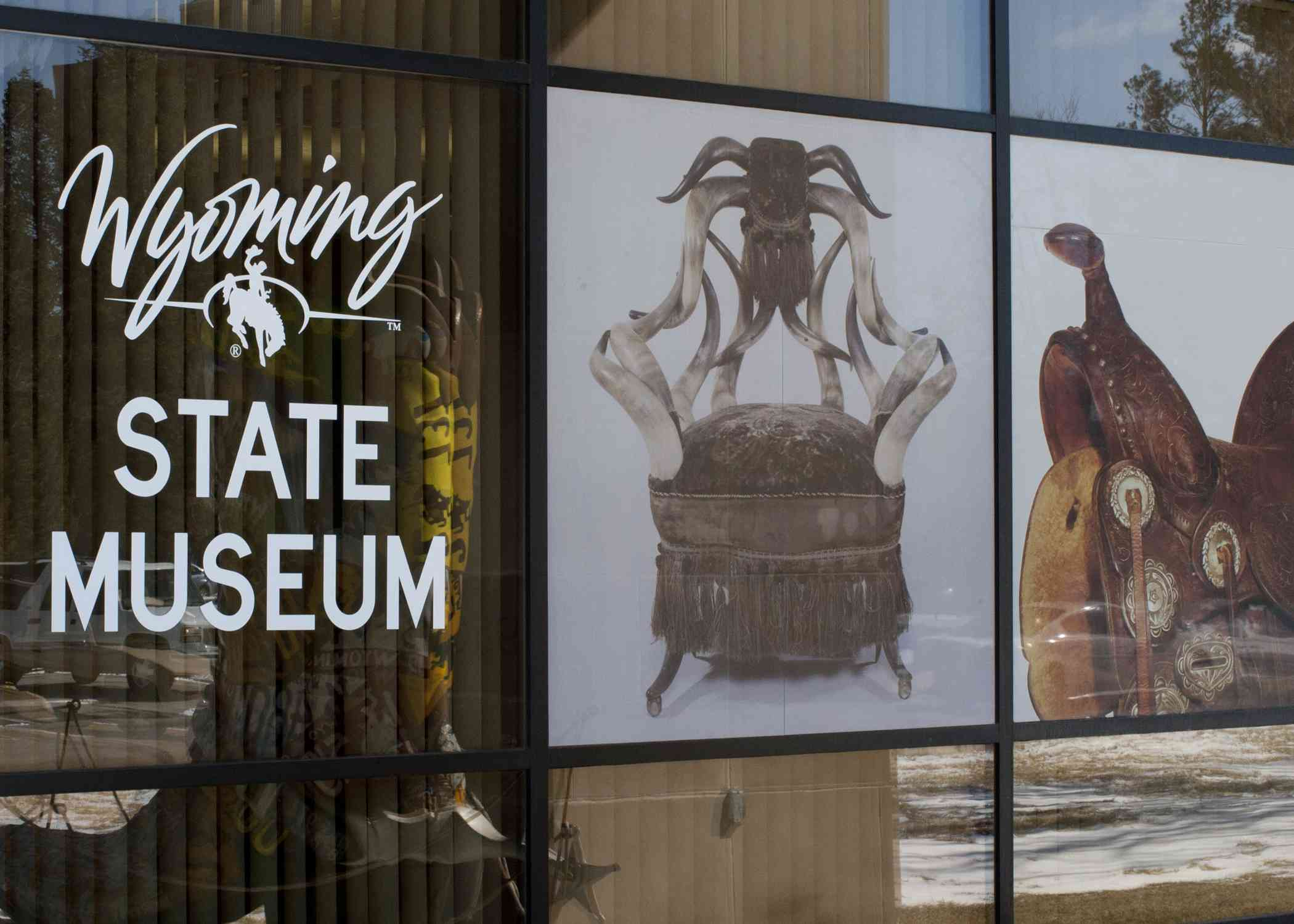 The front window of the Wyoming State Museum