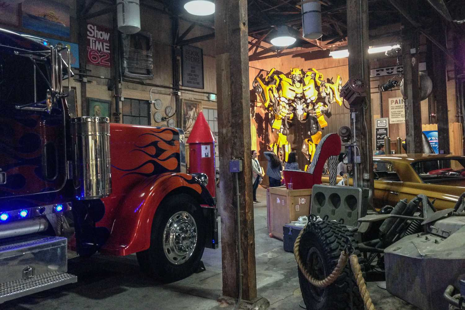 The prop room on the Paramount Studio Tour