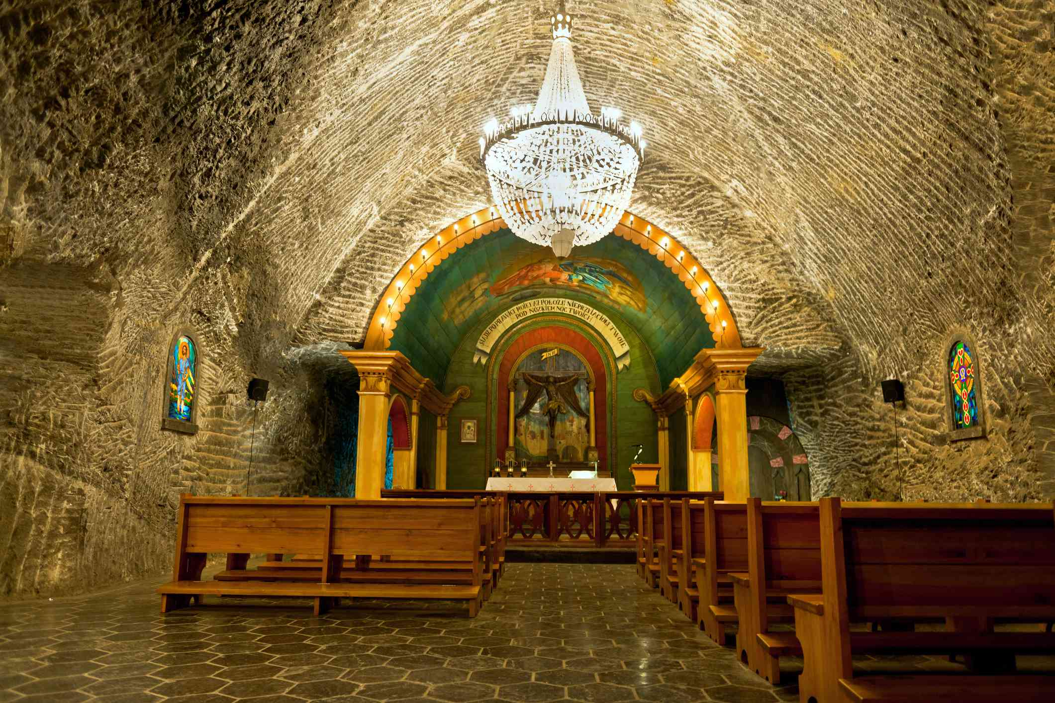 Chapel in Salt Mine Wieliczka Poland