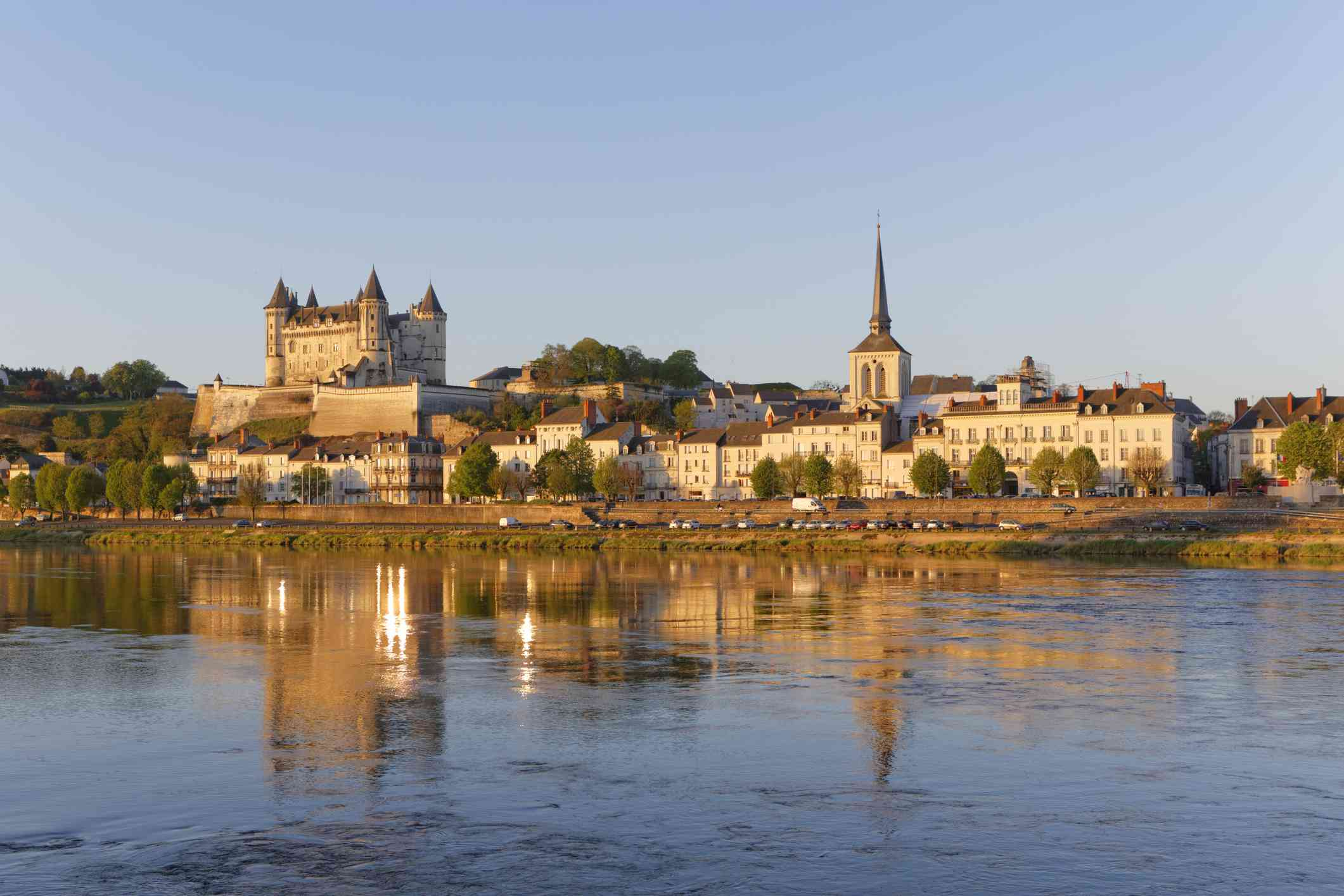 Saumur in the Loire Valley, France
