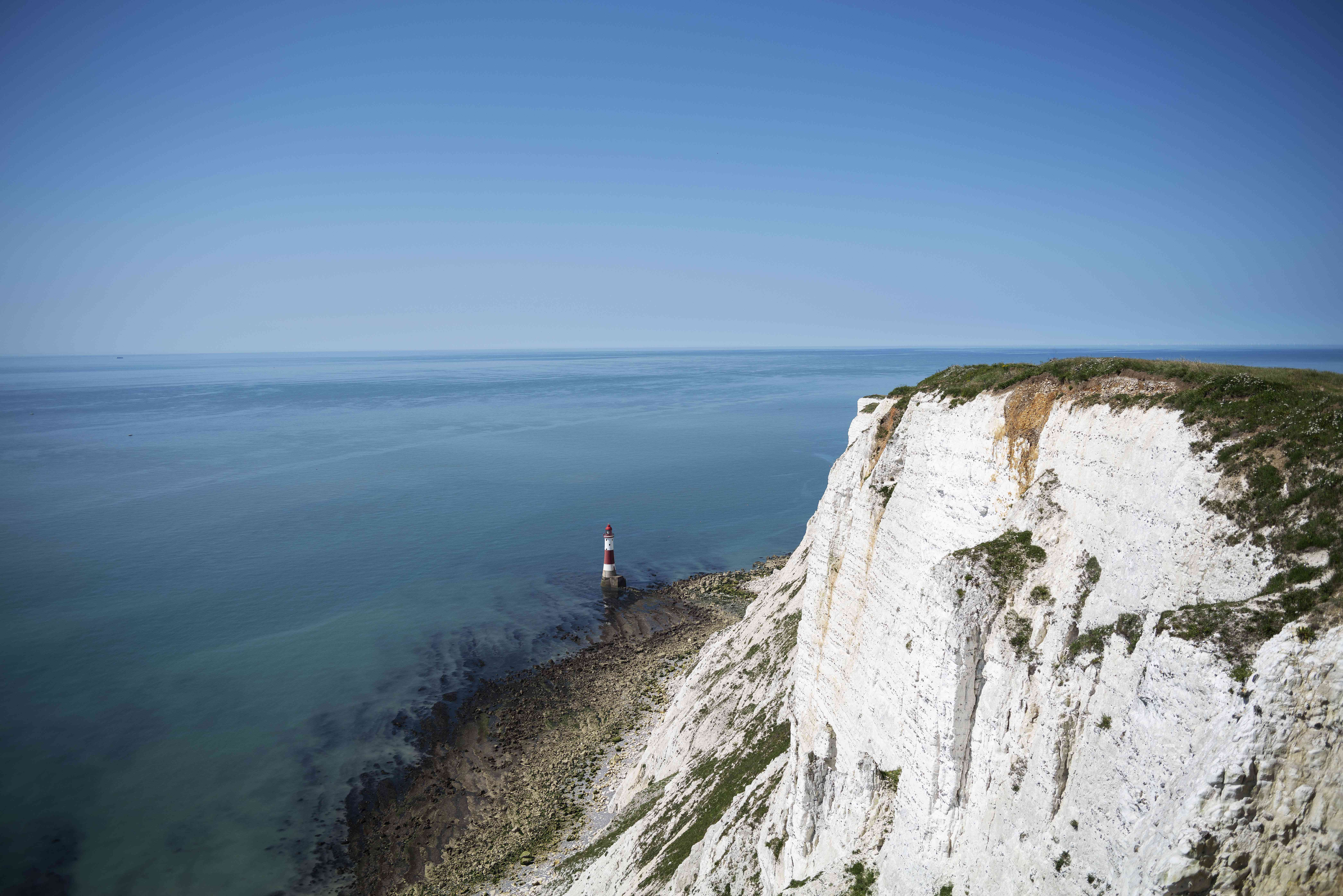 Beachy Head cliff in Eastbourne, England