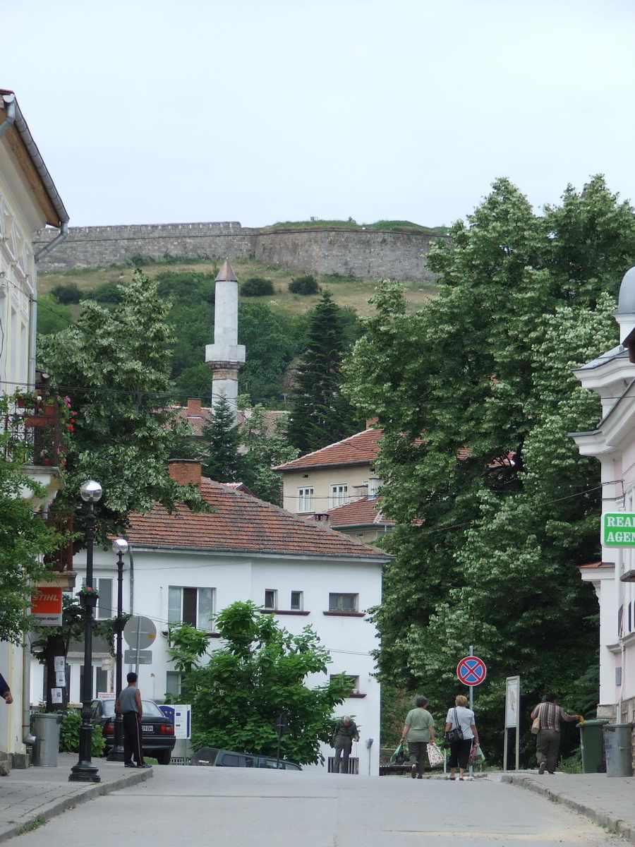 Belogradchik Fortress Looms Over the Town of Belogradchik, Bulgaria