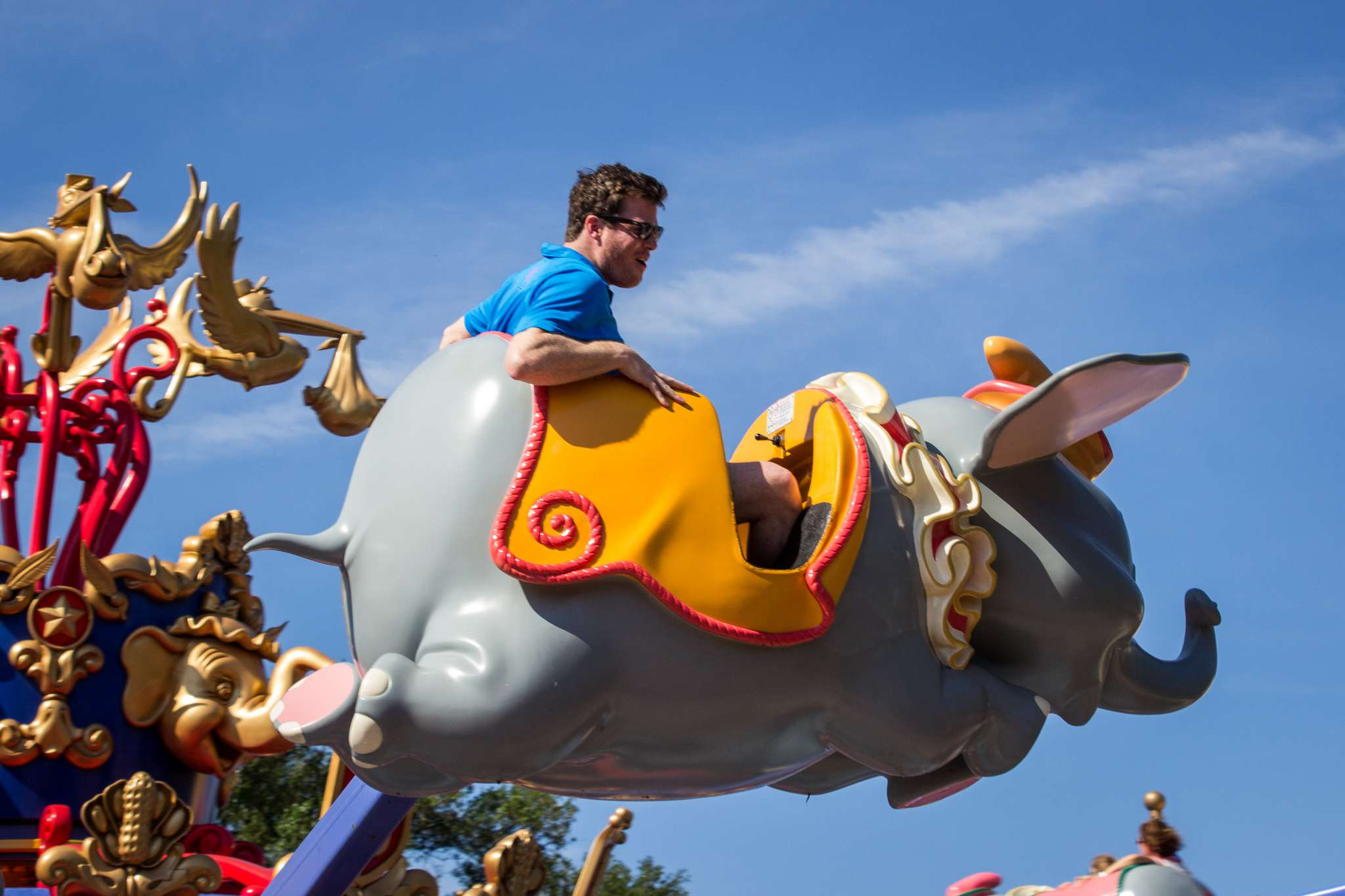 A look at Dumbo the Flying Elephant in Fantasyland at the Magic Kingdom.