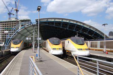 Eurostar trains at Waterloo International