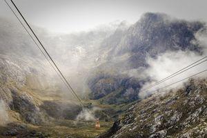 The world's highest cable-car, Merida, Venezuela