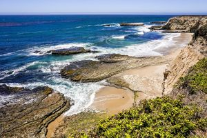 Beaches and cliffs on the Pacific Coast, Wilder Ranch State Park, Santa Cruz, California