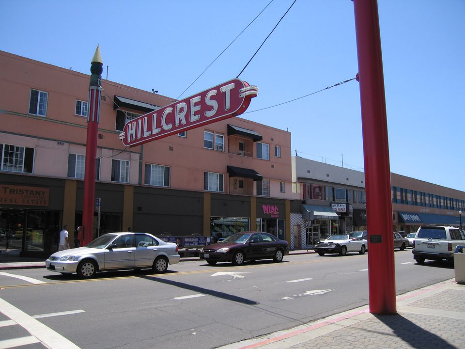 Hillcrest neighborhood, location of the San Diego Gay Pride