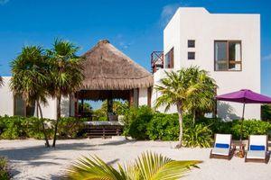 Luxury rental villa on the beach in Tulum, Mexico