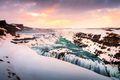 Gullfoss Waterfall Iceland Winter