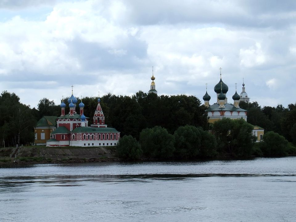 Two Grand Churches in Uglich, Russia