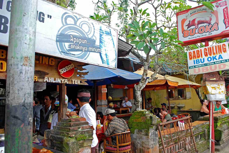 Ibu Oka storefront, Ubud, Bali