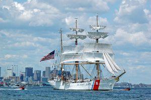 US Coast Guard Tall Ship at Sail Boston