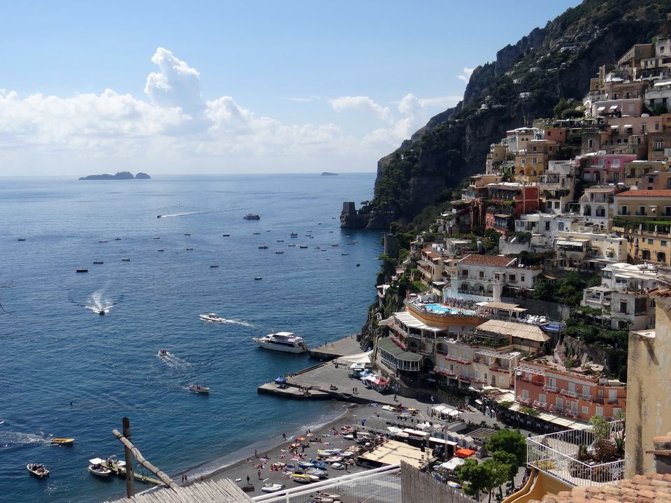 Positano, Italy on the Mediterranean