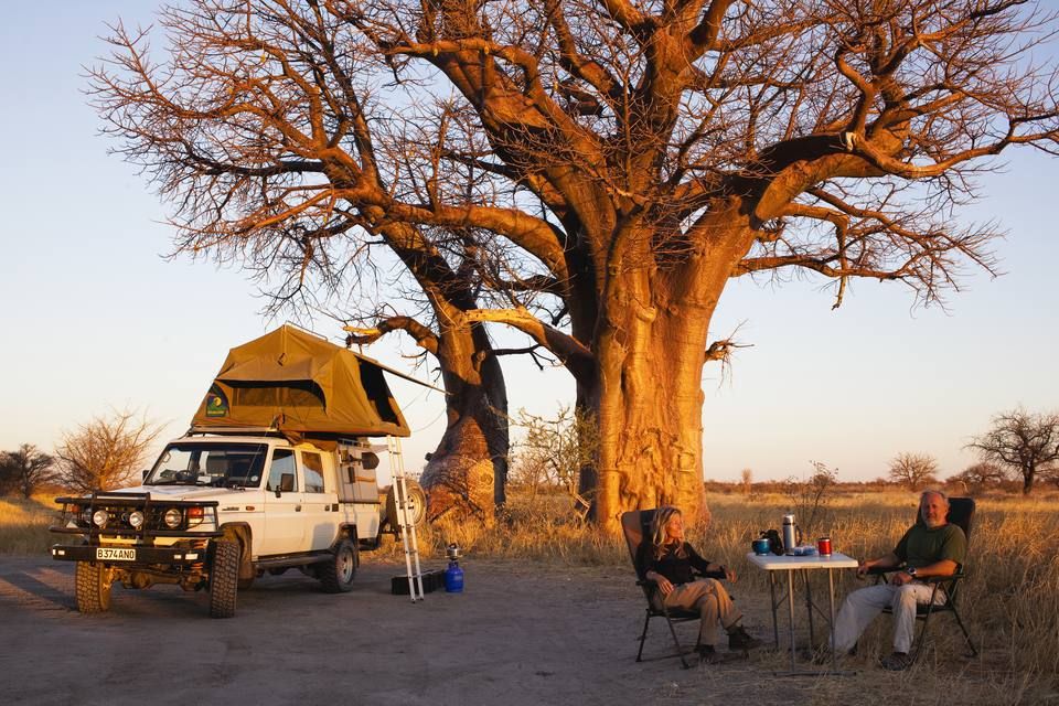 Camping on a Self-Drive Safari, Botswana