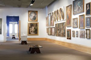 South America, Brazil, Sao Paulo, the interior of the Pinacoteca do Estado art gallery in Luz