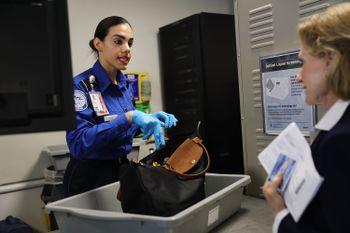 tsa officials and delta introduce automated security screening lanes at laguardia airport air travel