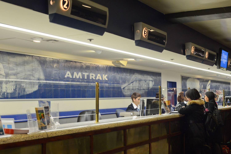 Amtrak ticket counter