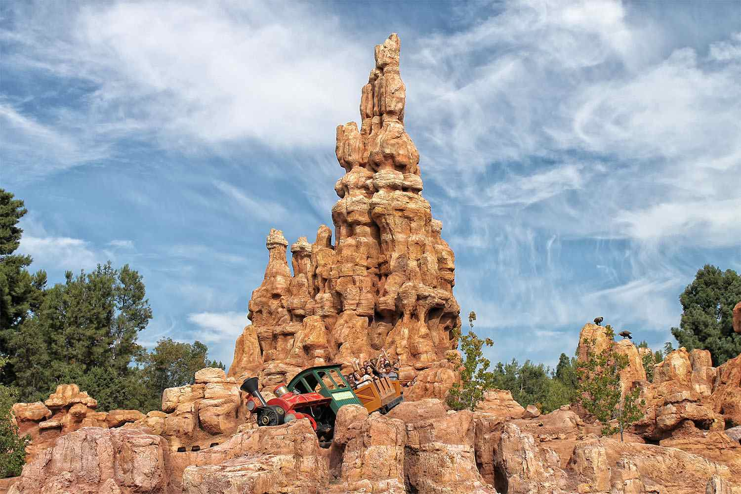 Riding Big Thunder Mountain