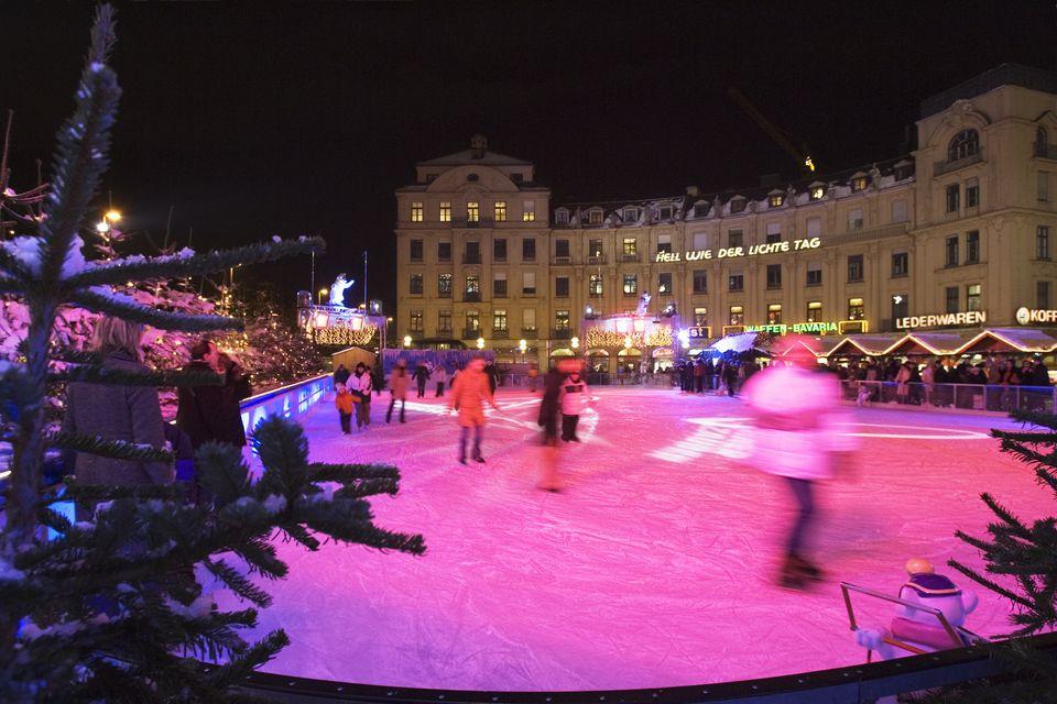 munich ice skating - Christmas Village Ice Skating Rink
