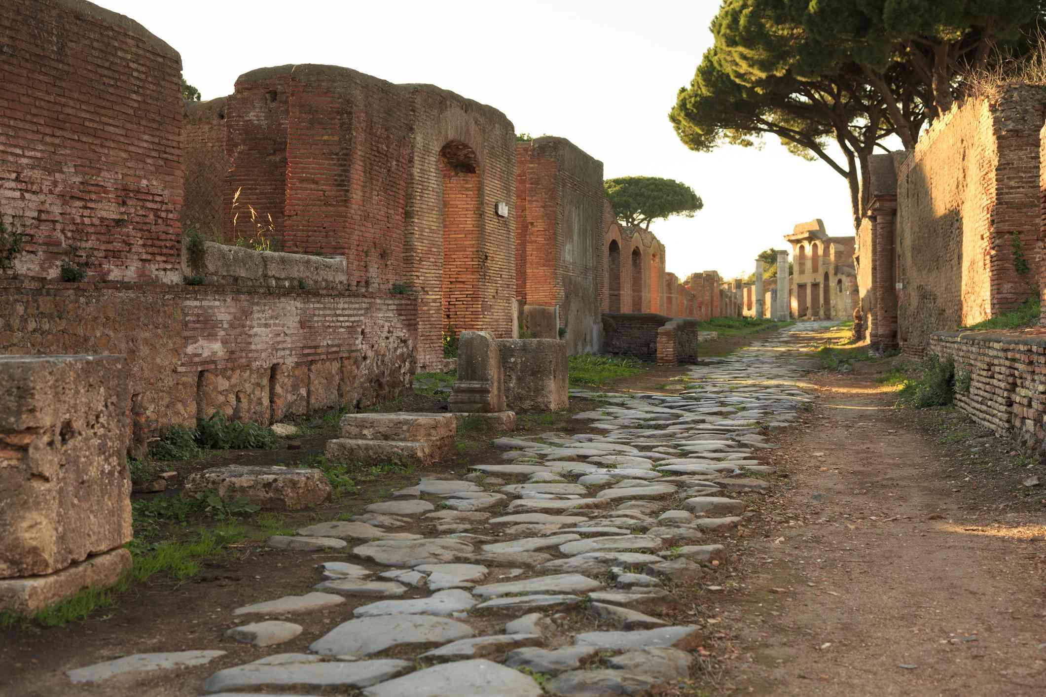 A Roman road in Ostia Antica