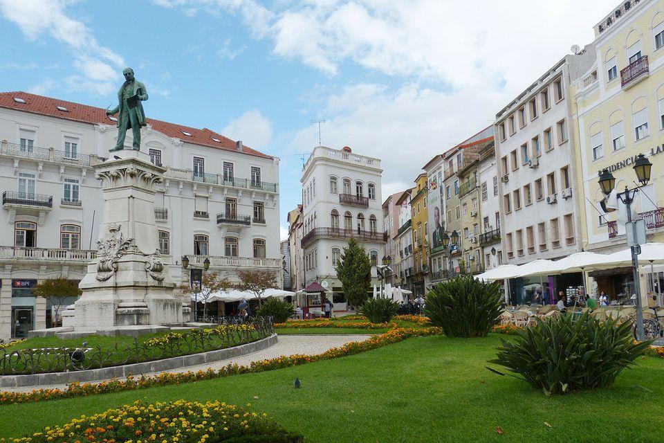 Statue of Joaquim Antonio de Aguiar in Coimbra