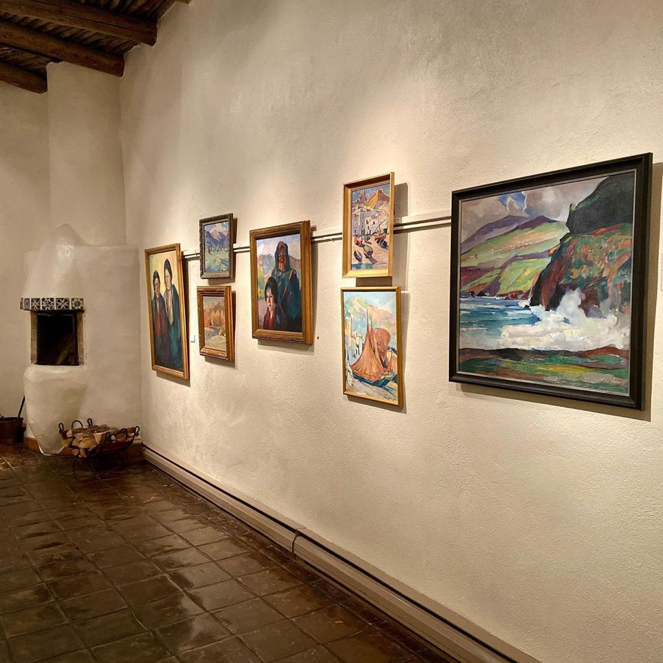 Paintings hanging on the wall at Nedra Matteucci Galleries