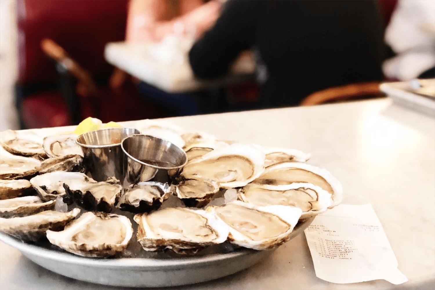 Oysters at Neptune Oyster in Boston