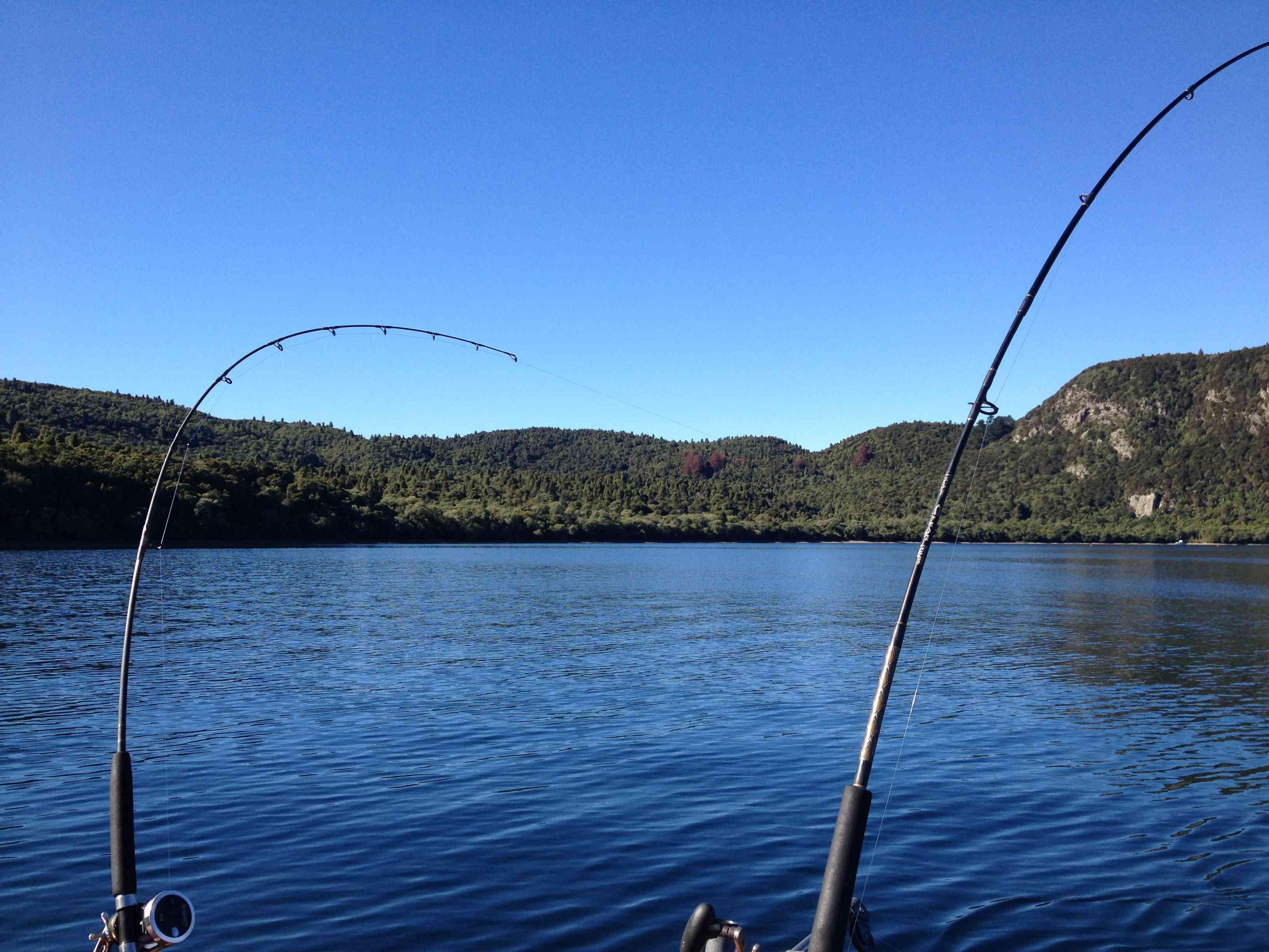 Excursión de pesca en el lago Taupo