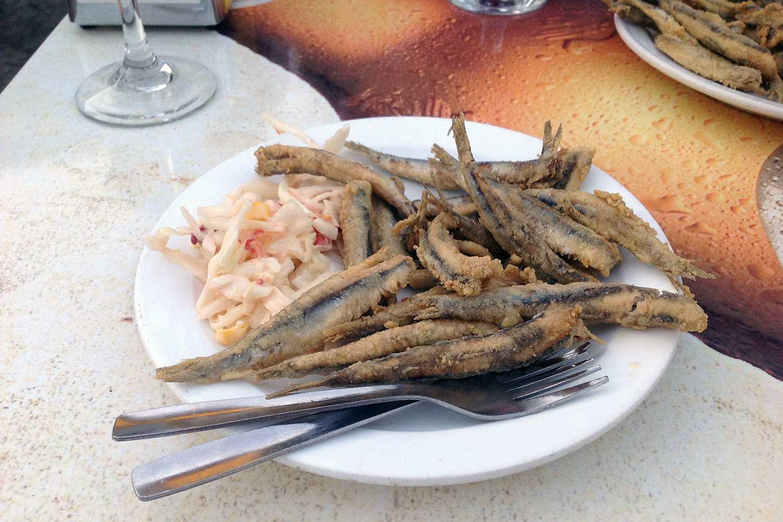 fried fish tapa Granada