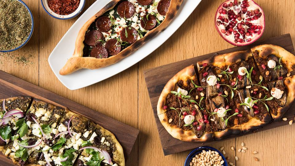 Flatbreads from Boulud Sud mediterranean restaurant