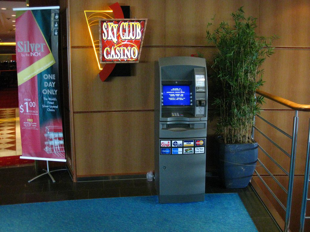 ATM Beside Casino Entrance Aboard NCL Ship