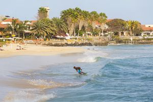 Surfer, Santa Maria, Sal Island, Cape Verde